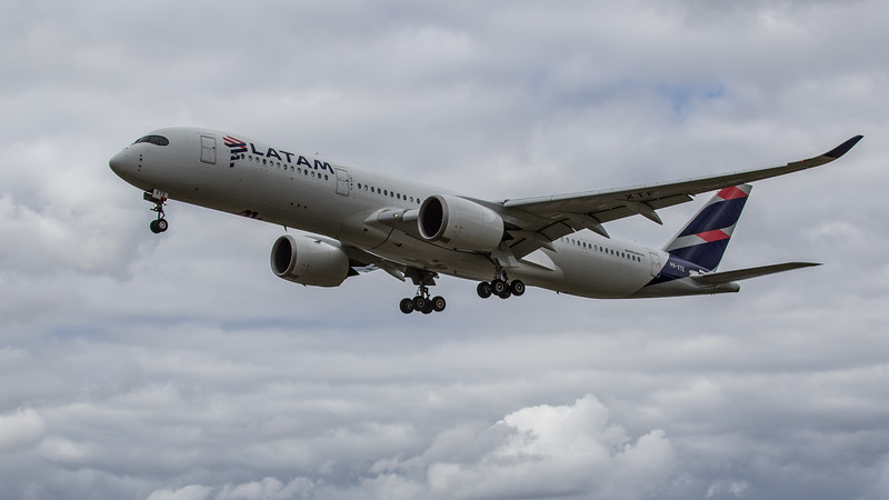 LATAM Airlines - Airbus A350-941 (PR-XTE) - Heathrow Airport (June 2020)
