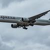 Qatar Airways - Boeing 777-3DZ(ER) (A7-BAO) - Heathrow Airport (June 2020)