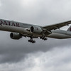 Qatar Airways - Boeing 777-3DZ(ER) (A7-BEX) - Heathrow Airport (June 2020)