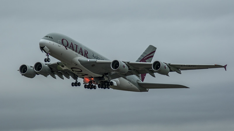 Qatar Airways - Airbus A380-861 (A7-APD) - Heathrow Airport (March 2020)