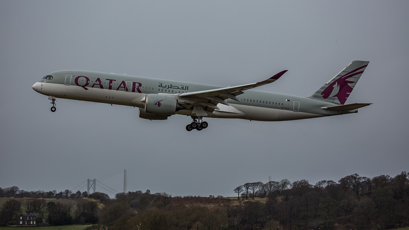 Qatar Airways - Airbus A350-941 (A7-ALC) - Edinburgh Airport (February 2020)