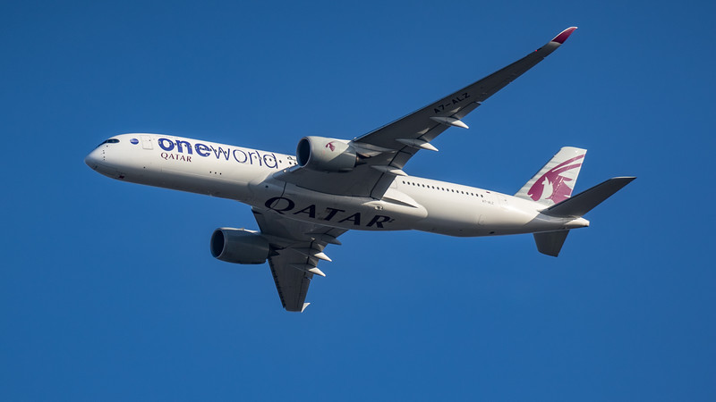 Qatar Airways (One World Livery)  - Airbus A350-941 (A7-ALZ) - Heathrow Airport (March 2020)