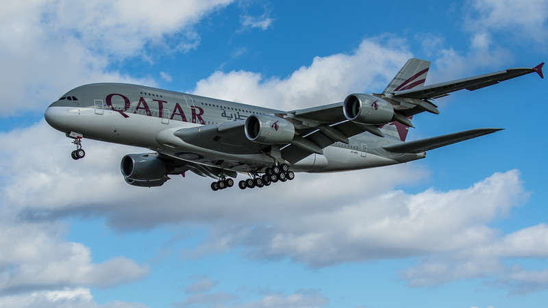 Qatar Airways - Airbus A380-861 (A7-APA) - Heathrow Airport (March 2020)