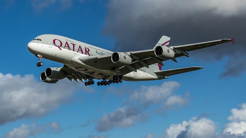Qatar Airways - Airbus A380-861 (A7-APJ) - Heathrow Airport (February 2020)