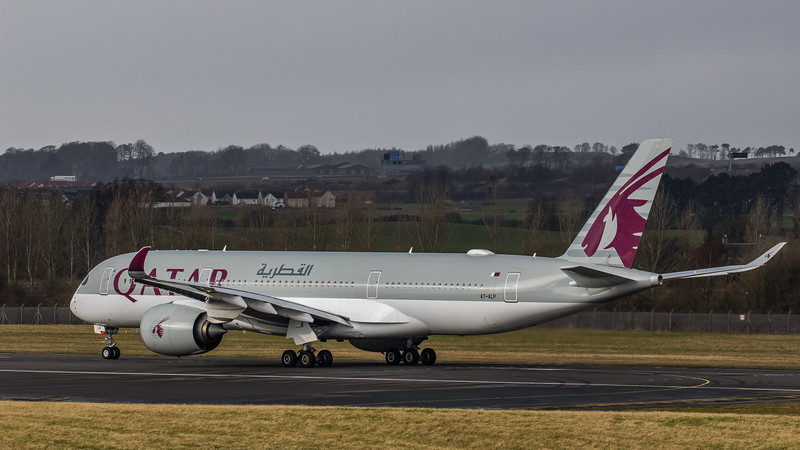 Qatar Airways - Airbus A350-941 (A7-ALP) - Edinburgh Airport (January 2020)