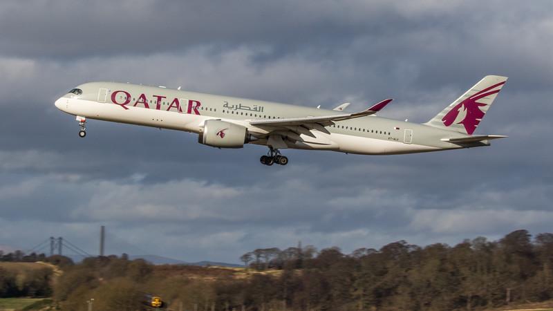 Qatar Airways - Airbus A350-941 (A7-ALU) - Edinburgh Airport (February 2020)