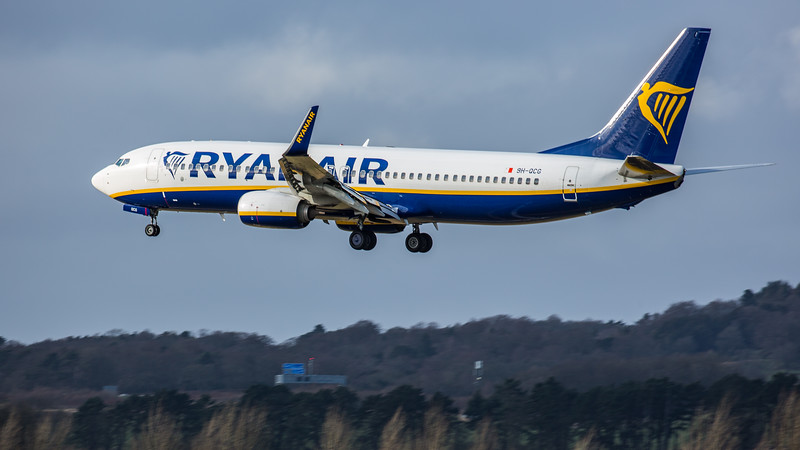 Ryanair - Boeing 737-8AS (9H-QCG) - Edinburgh Airport (February 2020)