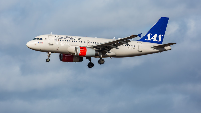 SAS - Airbus A319-131 (OY-KBR) - Edinburgh Airport (February 2020)