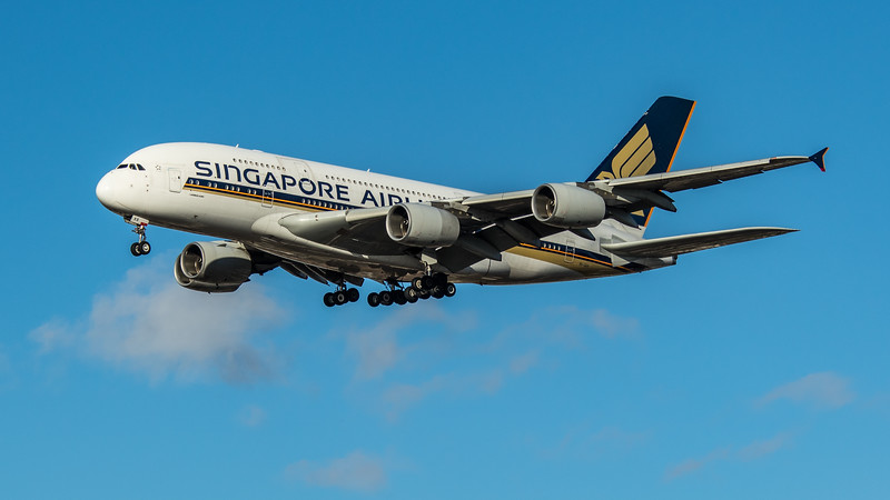 Singapore Airlines - Airbus A380-841 (9V-SKR) - Heathrow Airport (March 2020)