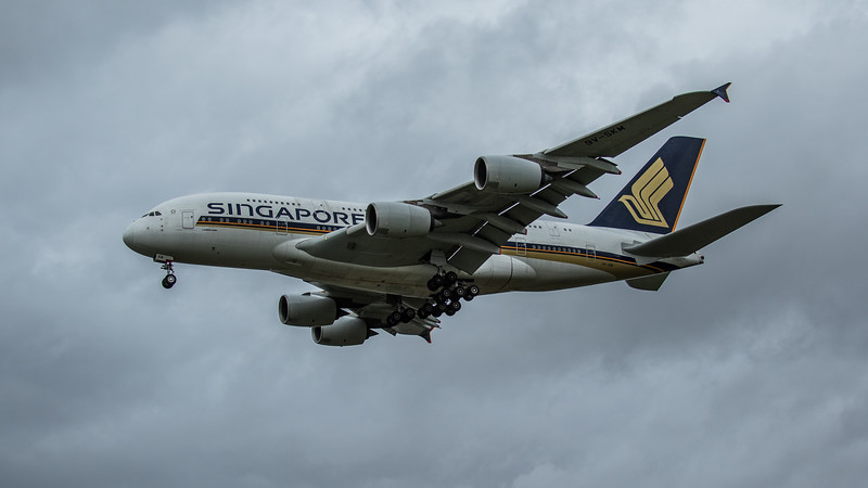 Singapore Airlines - Airbus A380-841 (9V-SKM) - Heathrow Airport (March 2020)
