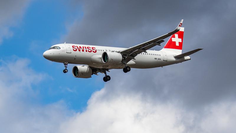 Swiss - Airbus A320-271N (HB-JDA) - Heathrow Airport (August 2020)