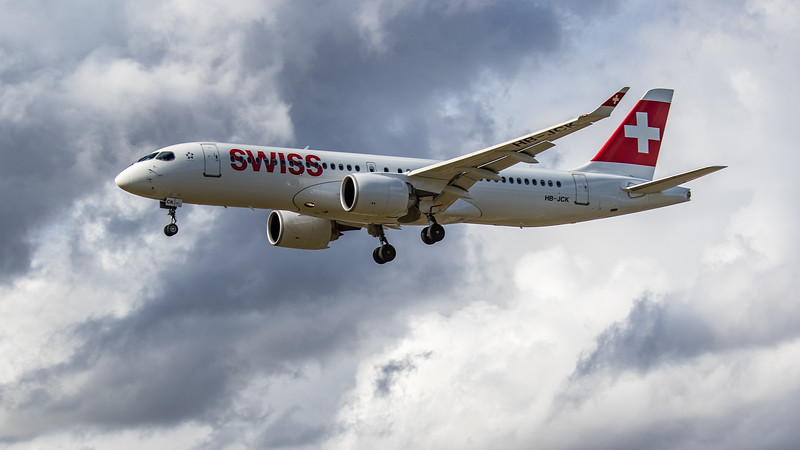 Swiss - Airbus A220-300 (HB-JCK) - Heathrow Airport (June 2020)