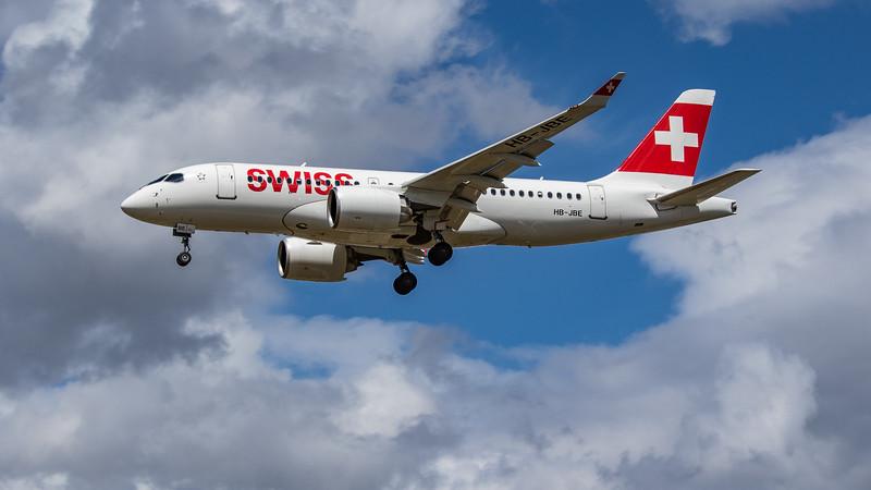 Swiss - Airbus A220-100 (HB-JBE) - Heathrow Airport (June 2020)