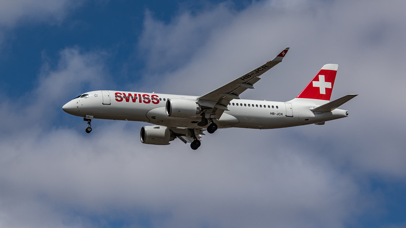 Swiss - Airbus A220-300 (HB-JCR) - Heathrow Airport (July 2020)