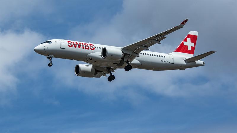 Swiss - Airbus A220-300 (HB-JCE) - Heathrow Airport (June 2020)