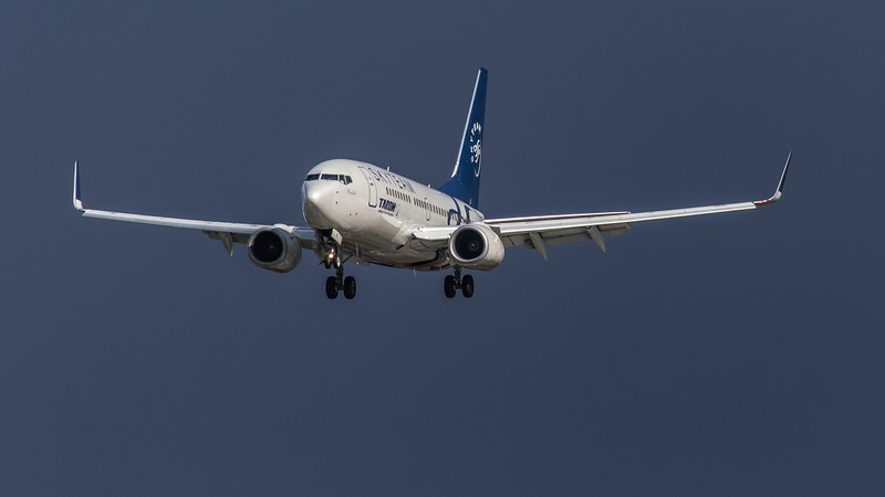 Tarom (SkyTeam Livery) - Boeing 737-78J (YR-BGF) - Heathrow Airport (March 2019)
