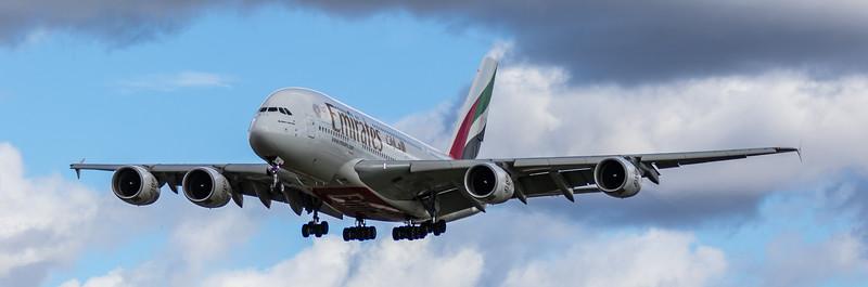 Emirates - Airbus A380-861 (A6-EDH) - Heathrow Airport (March 2019)