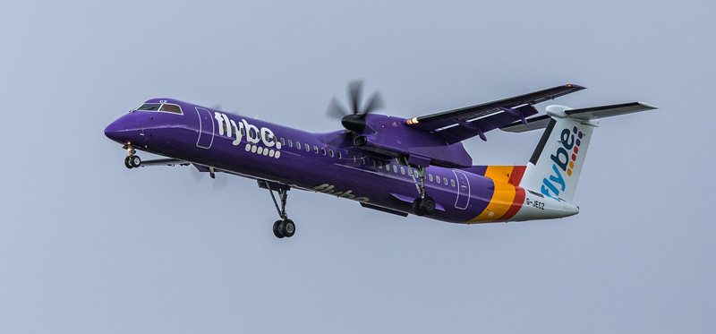 Flybe - Bombardier  Dash 8-Q400 (G-JECZ) - Heathrow Airport (March 2019)