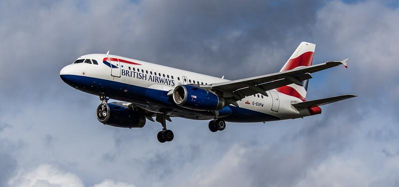 British Airways - Airbus A319-131 (G-EUPW) - Heathrow Airport (March 2019)
