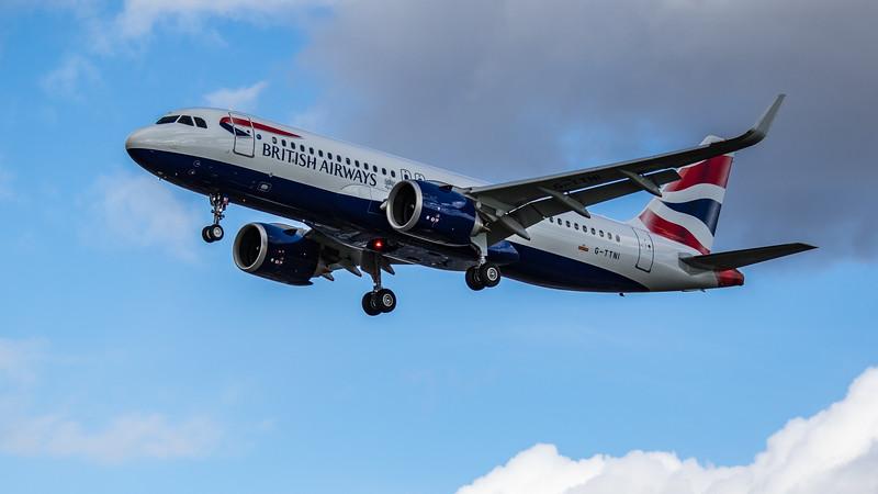 British Airways - Airbus A320-251N (G-TTNI) - Heathrow Airport (March 2019)
