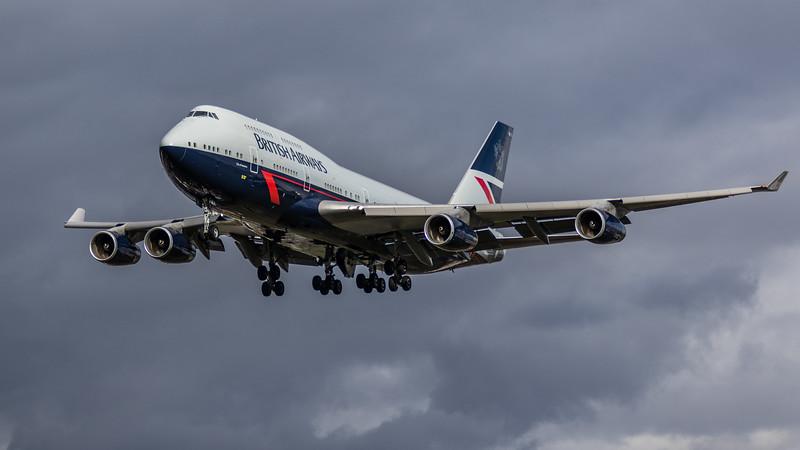 British Airways (Landor Retro Livery) - Boeing 747-436 (G-BNLY) - Heathrow Airport (March 2019)