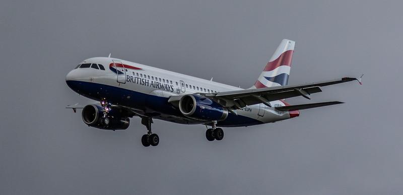 British Airways - Airbus A319-131 (G-EUPH) - Heathrow Airport (March 2019)