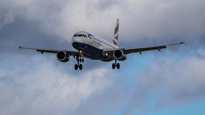 British Airways - Airbus A320-232 (G-EUUF) - Heathrow Airport (March 2019)