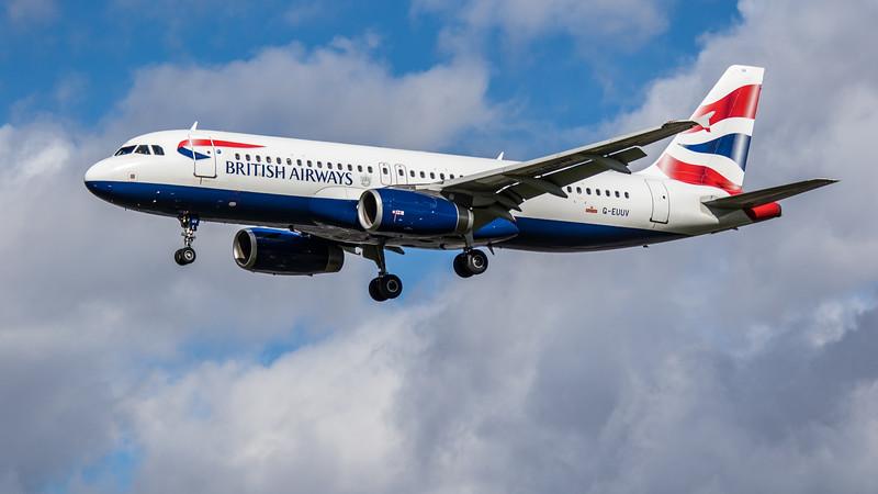 British Airways - Airbus A320-232 (G-EUUV) - Heathrow Airport (March 2019)