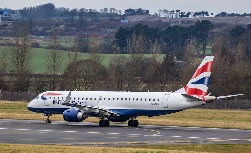 British Airways - Embraer E190-SR (G-LCYS) - Edinburgh Airport (January 2020)