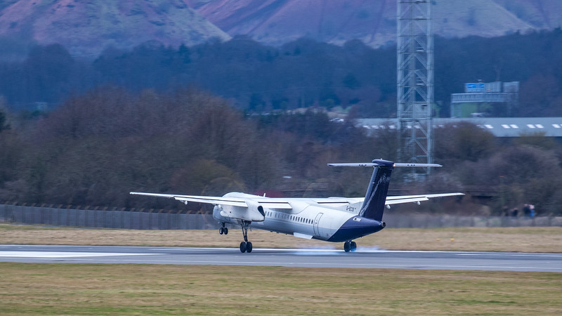 Flybe - De Havilland Canada Dash 8-400 (G-ECOI) - Edinburgh Airport (January 2020)