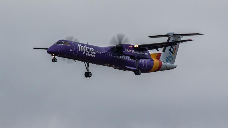 Flybe - De Havilland Canada Dash 8-400 (G-JEDP) - Edinburgh Airport (January 2020)