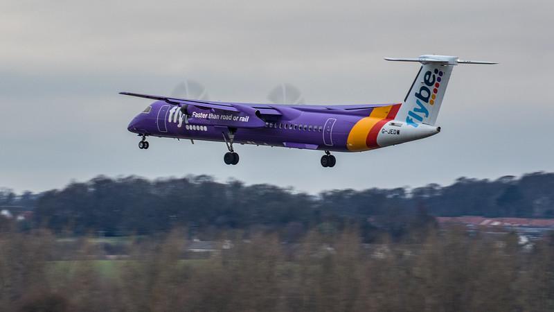 Flybe - De Havilland Canada Dash 8-400 (G-JEDW) - Edinburgh Airport (January 2020)