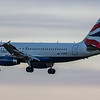 British Airways - Airbus A319-131 (G-EUPD) - Edinburgh Airport (January 2020)