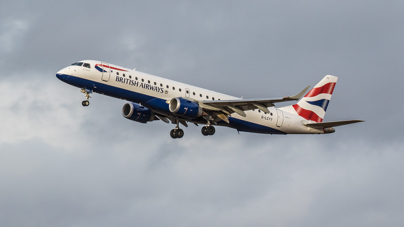 British Airways - Embraer E190-SR (G-LCYY) - Edinburgh Airport (January 2020)