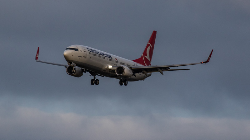 Turkish Airlines - Boeing 737-8F2 (TC-JVH) - Edinburgh Airport (January 2020)
