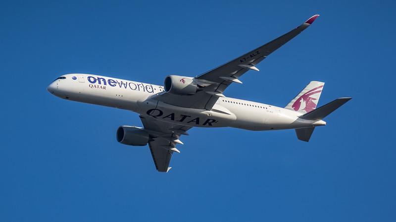 Qatar Airways (One World Livery)  - Airbus A350-941 (A7-ALZ) - Heathrow Airport (March 2020)