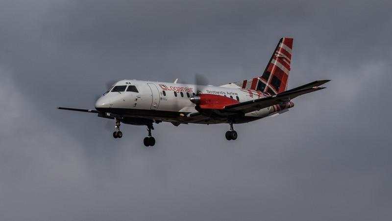 Loganair - Saab 340B- (G-LGNA) - Heathrow Airport (March 2020)