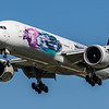 Saudia (Ad-Diriyah E-Prix Livery)  - Boeing 777-368(ER) (HZ-AK43) - Heathrow Airport (April 2021)