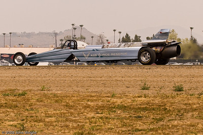USAF Reserve jet powered dragster
