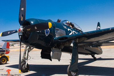 Grumman F8F Bearcat fighter.