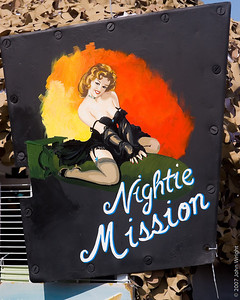 """Nightie Mission"" Nose Art from a night fighter"