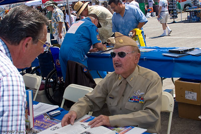 WWII veteran Major Bill L. Disbrow, USAF (Ret.), Age 92. Major Disbrow flew 50 missions in B-24 Liberators with the 741st Squadron of the 455th Bomb Group, 15th Air Force, at Cerignola, Italy in 1944.