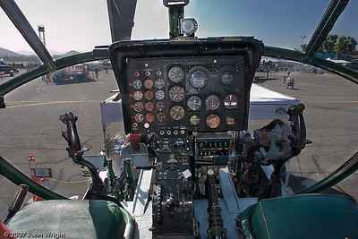 "Cockpit of Piasecki H-21 ""Shawnee"" helicopter"
