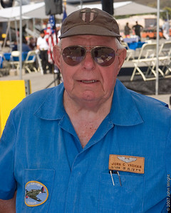 Capt. John C. Vroman, Age 87, WWII veteran, 14th Air Force, Kunming, China, 1944-45.  Capt. Vroman flew the Lockheed F-4 and F-5, the photo recon version of the P-38 Lightning.