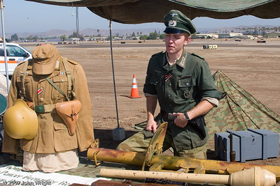 WWII German re-enactor from California Historical Group
