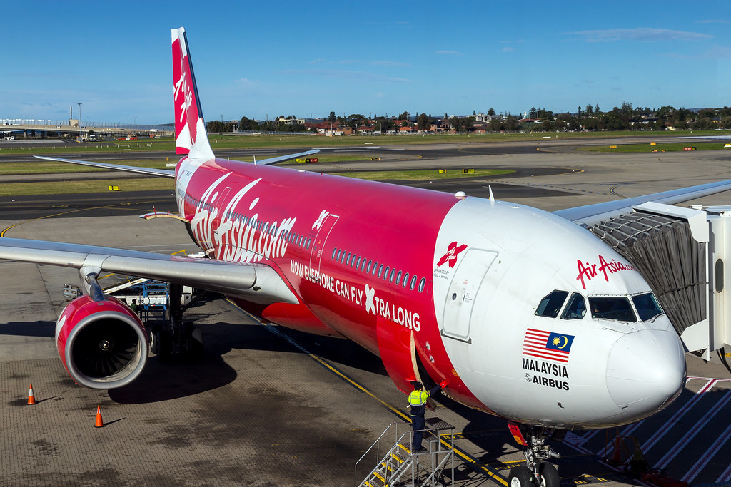AirasiaX Airbus A330-300 (9M-XXD) D7 223 Sydney to Kuala Lumpur