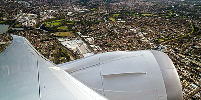 Taking off from Kingsford Smith, Sydney