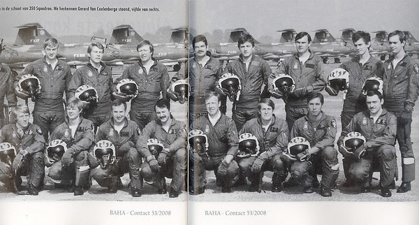 Some 75-B colleagues, during their operational carreer with 350 Squadron (picture courtesy of BAHA).