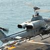 HMM-262 (Rein) Bell AH-1W Cobra 165325/ET-44 takes off.