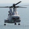 HMM-262 (Rein) CH-46E Sea Knight 153977/ET-06 comes in for landing.